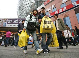Chinese consumers pushed up retail sales, too.