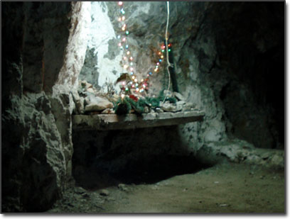 Christmas alter in a silver mine