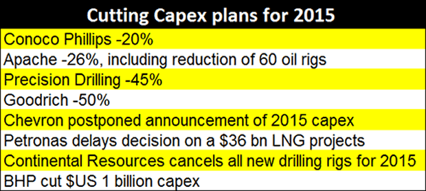 Capex Plans for 2015