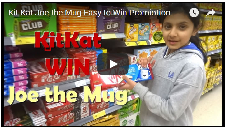 Kit Kat Joe the Mug Easy to Win Promotion