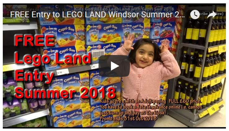 FREE Entry to LEGO LAND Windsor Summer 2018 With Capri Sun!