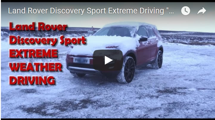 "Land Rover Discovery Sport Extreme Driving ""Beast from the East"" Snow Weather Test"