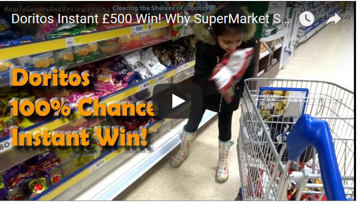 Doritos Instant £500 Win! Why Super Market Shelves are Empty