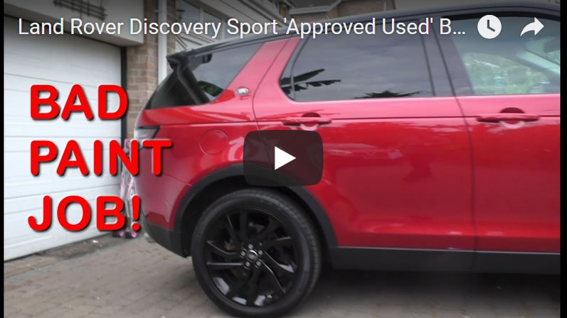 Land Rover Discovery Sport 'Approved Used' Bad Paint Job - Inchcape Chester