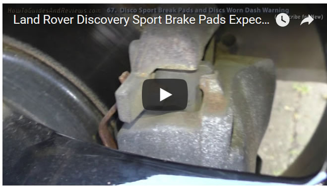 Land Rover Discovery Sport Brake Pads Expected Life, Worn Pads Dash Warning (67)