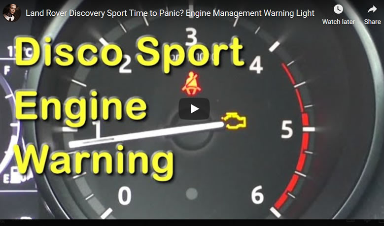 Land Rover Discovery Sport Engine Management Warning