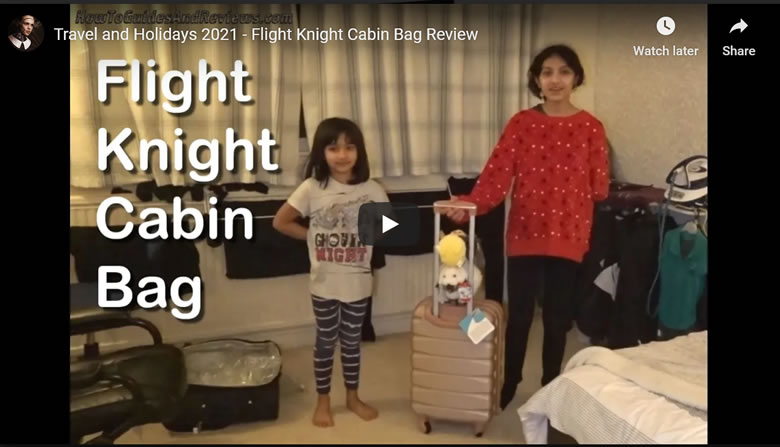 Travel and Holidays 2021 - Flight Knight Cabin Bag Review