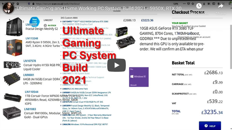 Ultimate Gaming and Home Working PC System Build 2021 - 5950X, RTX 3080, Asus MB - Scan Computers UK
