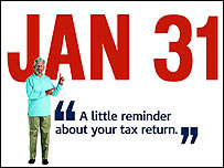 UK Tax 2005-06 Self Assessment Tax Return Filing Deadline - 31st January 2007
