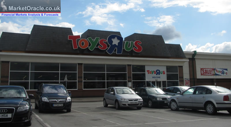 Toys R Us face collapse, risking 3200 jobs