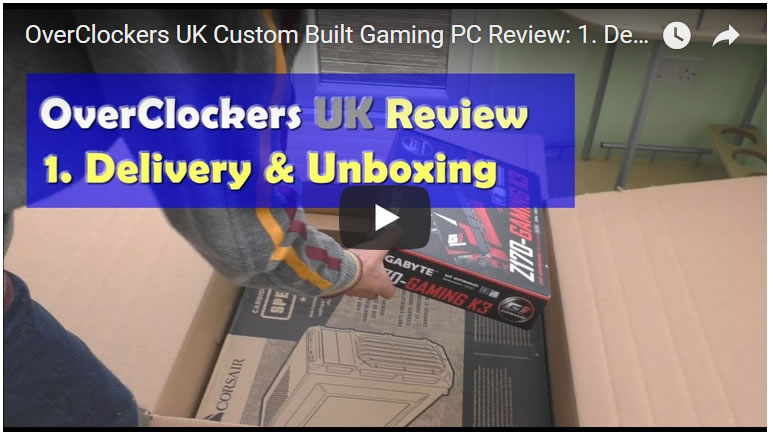overclockers uk review delivery unboxing 1 - PassMark Bench Mark of OVERCLOCKERS UK Custom Built Gaming PC (5)