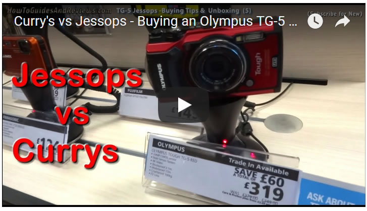 Curry's vs Jessops - Buying an Olympus TG-5 Tough Camera