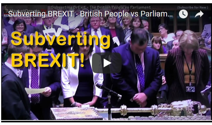 Subverting BREXIT - British People vs Parliament Risks Revolution