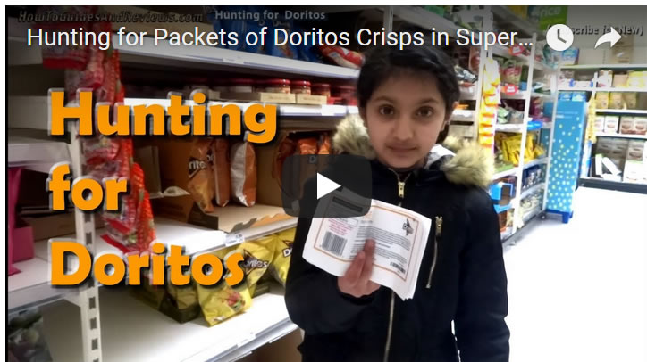 Hunting for Packets of Doritos Crisps in Super Markets, Instant Win Promo