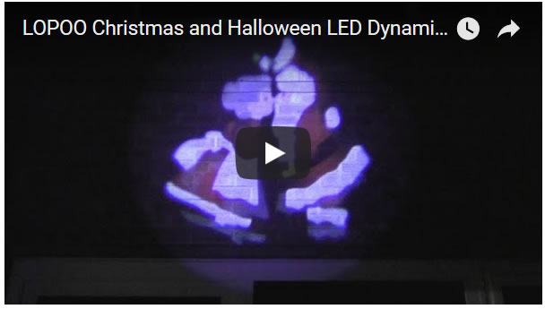 LOPOO Christmas and Halloween LED Dynamic Projector Light Review
