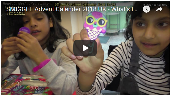 SMIGGLE Advent Calender 2018 UK - What's Inside Part 2 - Gifts 9 to 16