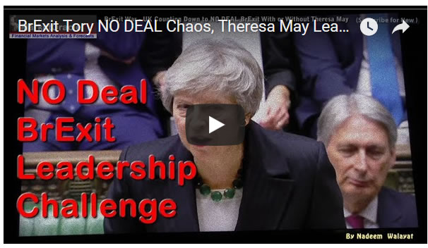 NO DEAL HARD BrExit Tory Chaos, Theresa May Leadership Challenge