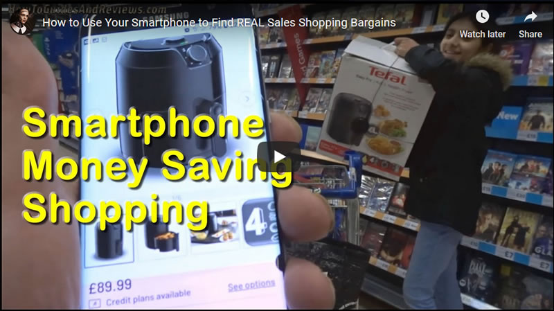 How to Use Your Smartphone to Find REAL Sales Shopping 50% Discount Bargains