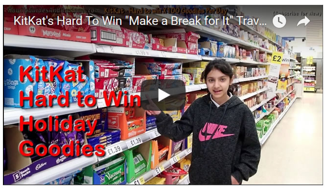 "KitKat's Hard To Win ""Make a Break for It"" Travel Holiday Goodies"