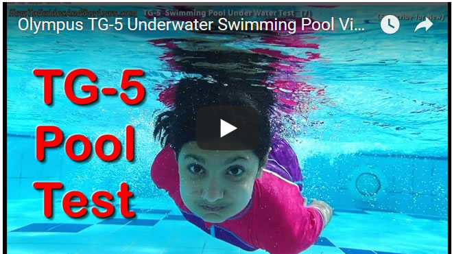 Olympus TG-5 Underwater Swimming Pool Video Test - Waterproof Tough Camera Review
