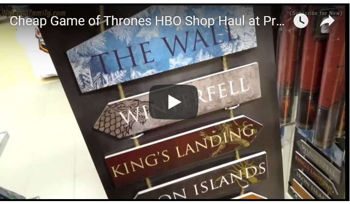 Game of Thrones Cheap HBO Memorabilia at Primark Sheffield