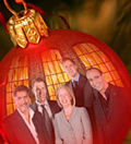 A festive special from the Dragons – (L-R) James Caan, Duncan Bannatyne, Deborah Meaden, Peter Jones and Theo Paphitis